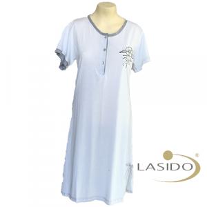 Nachthemd dames met knopen en print | 100% katoen