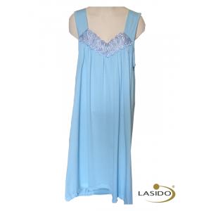 Nachthemd dames met spaghetti band en zonder mouwen | 100% katoen