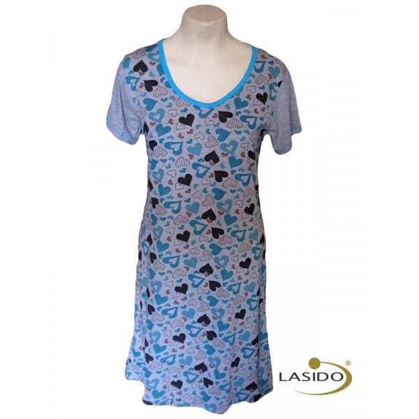 Nachthemd dames met hartjesprint | 100% katoen