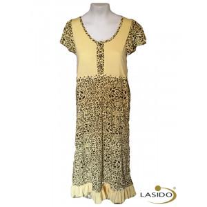 Nachthemd dames met panterprint | 100% katoen