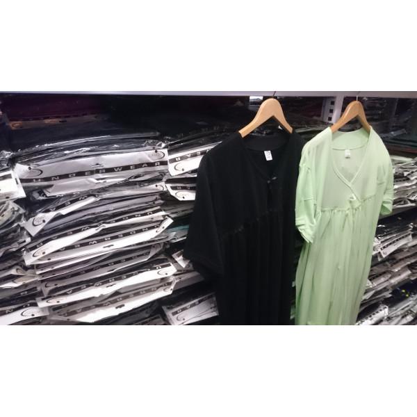 (Partijhandel) Nachthemd dames met strikje   100% katoen