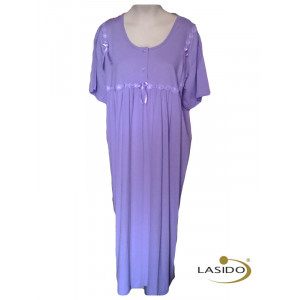 Nachthemd dames met strikjes | 100% katoen