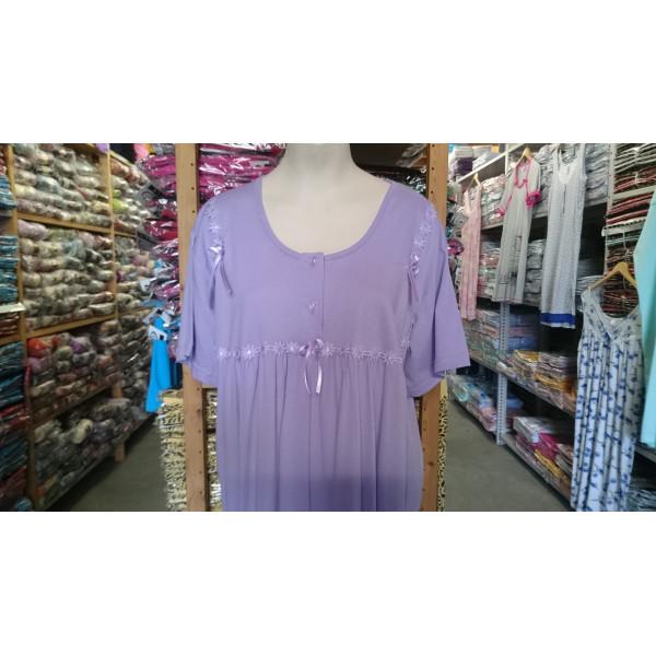 Nachthemd dames met strikjes   100% katoen