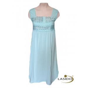Nachthemd dames met knopen en motief | 100% katoen