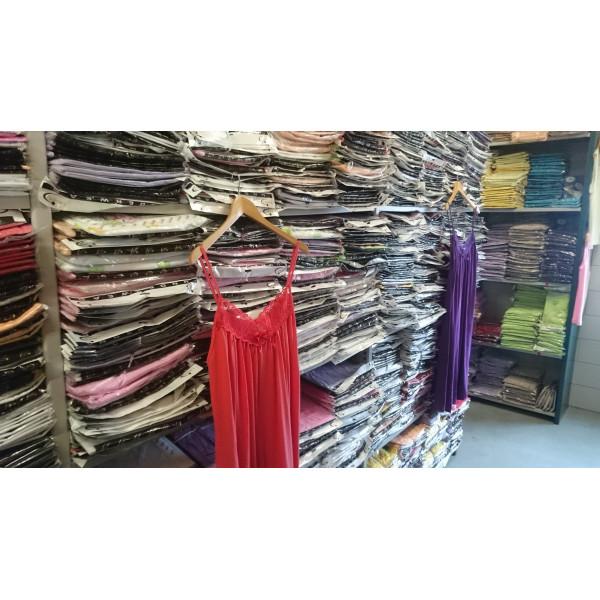 Nachthemd dames met geborduurde hals en strikje | 100% katoen