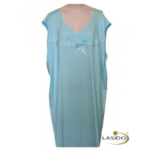 Nachthemd dames met v-hals en strikje (extra groot) | 100% katoen