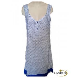 Nachthemd dames met v-hals en knoopjes | 100% katoen