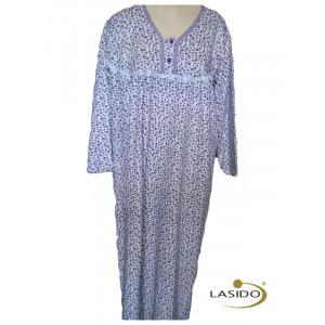 Nachthemd dames met knoopjes en bloemetjesmotief | 100% katoen